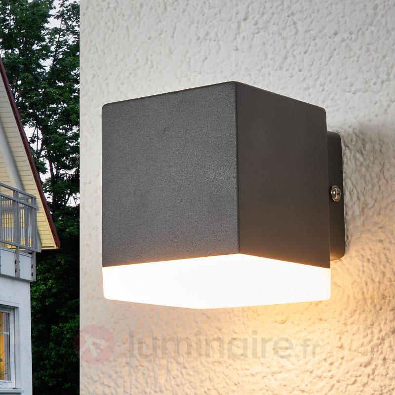 Applique d'extérieur Hedda grise avec LED - Appliques d'extérieur LED