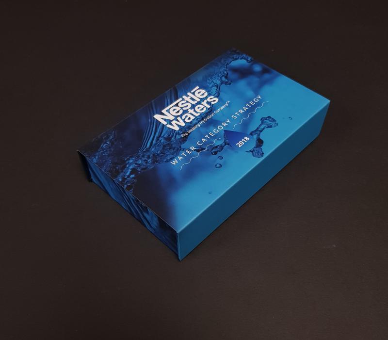 Coffret Rabat Aimanté - Impression Quadri + Pelliculage mat Boite cosmétique