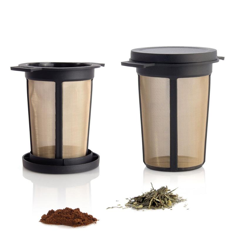 Micro-fine stainless-steel filter with lid / drip-off - Permanent Filters