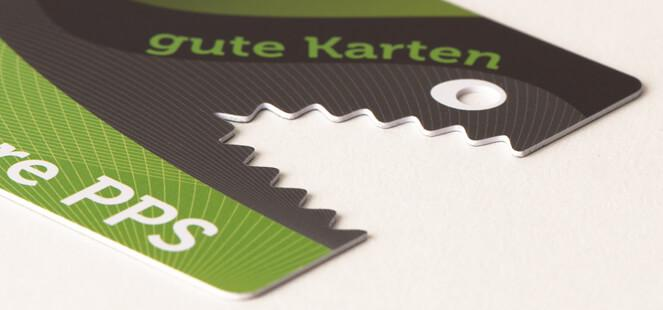 Printed Plastic cards in special format - null