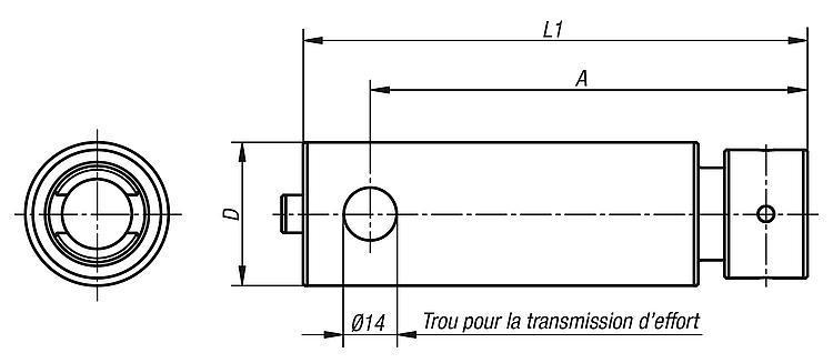 Broche d'adaptation - Etau de bridage 5 axes compact