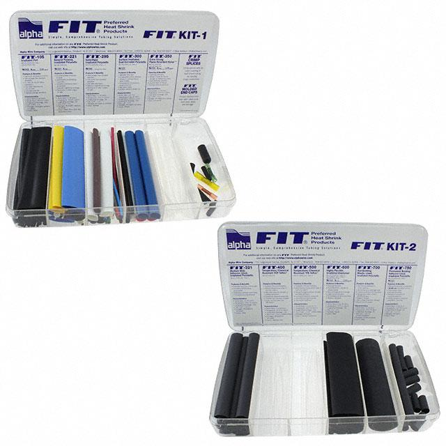 KIT HEATSHRINK TUBING NO COLOR - Alpha Wire FKIT2 NC032