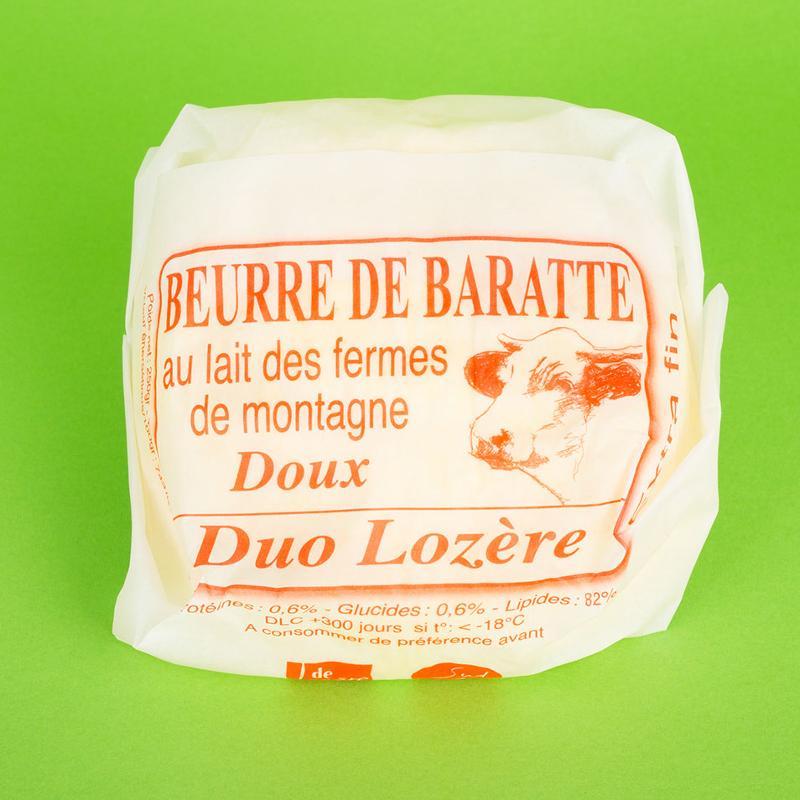 beurre de baratte doux 250G - Produits laitiers