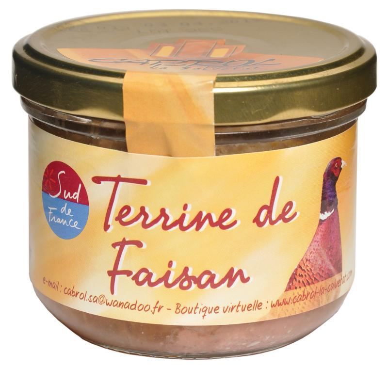 Terrine de Faisan (bocal en verre) - Epicerie salée