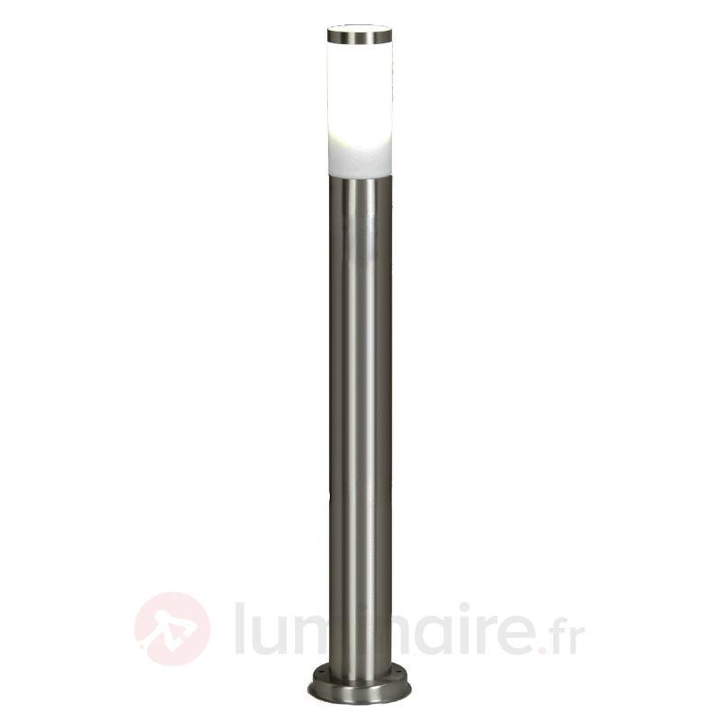 Éclairage pour chemin cylindrique Kristof, inox - Bornes lumineuses inox