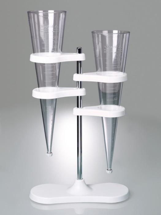 Soporte para embudo de sedimentación Imhoff - Equipo de laboratorio, con dos soportes para embudos de sedimentación