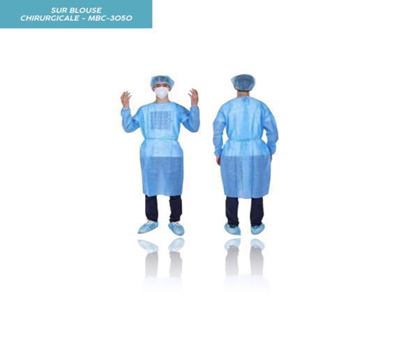 Sur Blouse Chirurgicale Bleue - Produits Médicaux
