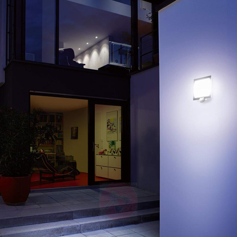 Steinel L20S outdoor wall light / motion detector - stainless-steel-outdoor-wall-lights