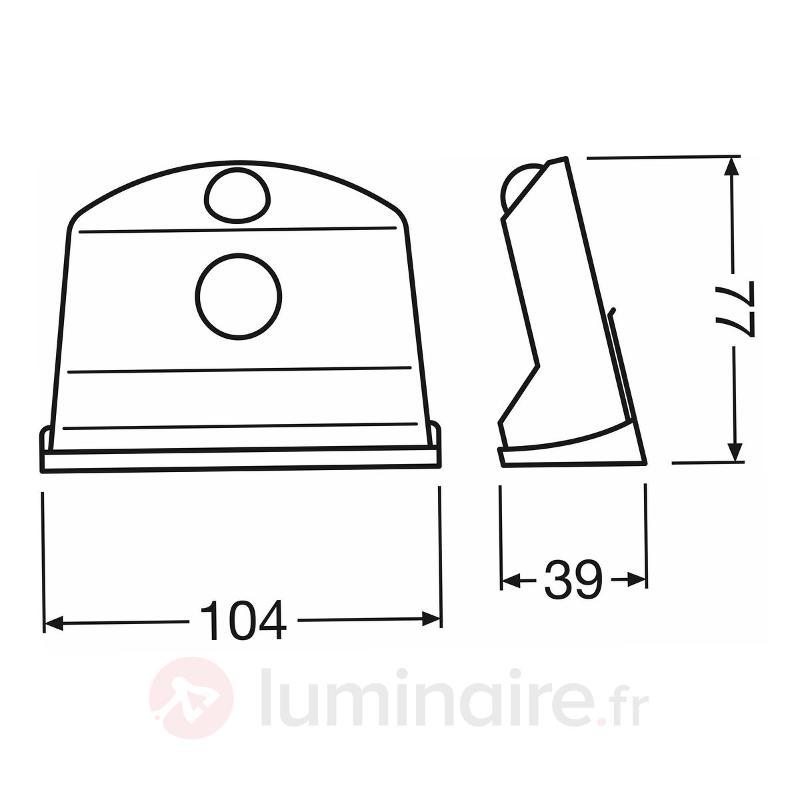 Applique LED pratique Door, capteur de luminosité - Appliques d'extérieur avec détecteur