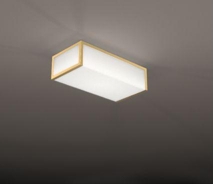 rectangular ceiling light model 2070 ateliers jean perzel france