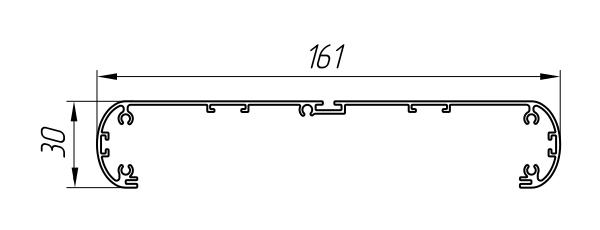 Aluminum Profile For Cable Channels And Light Boxes Ат-4594 - Interior aluminum profile