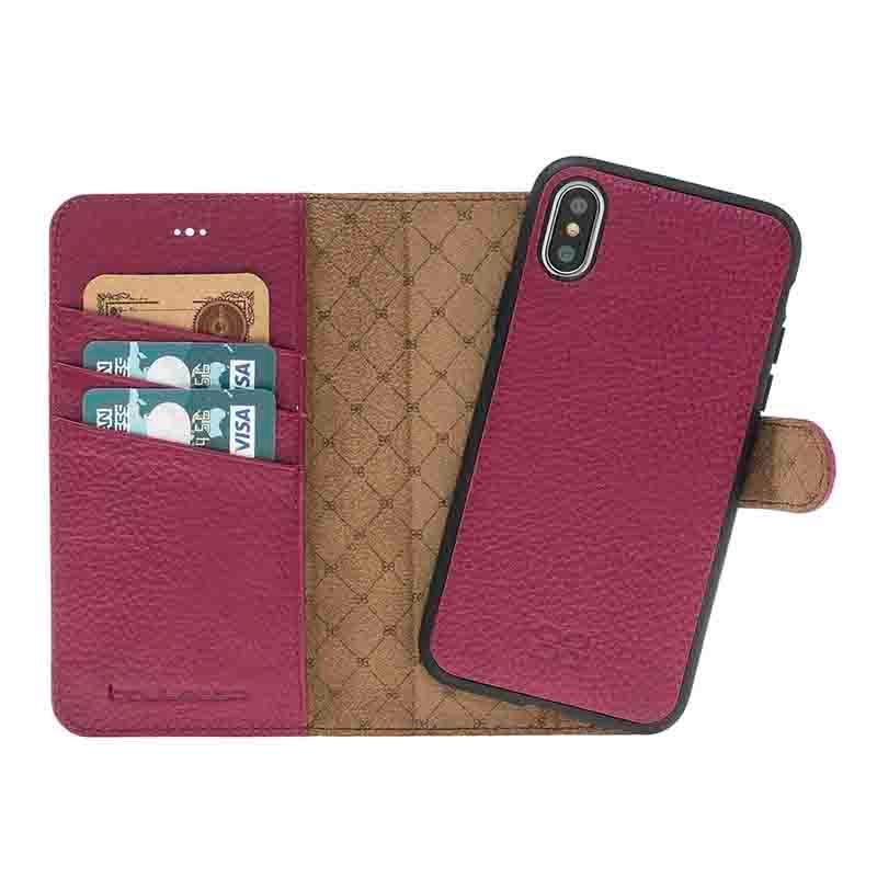 iPhone X Magnet Wallet Case - Top Designer Leather phone Wallet case for iphone X