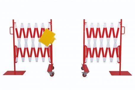 Kit 2 Pcs. Barrière Extensible Rouge-blanc 2,0m - Barrières De Sécurité