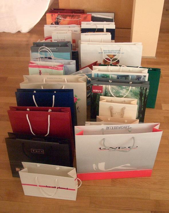 Bolsas de transporte de papel - Hecho de papel