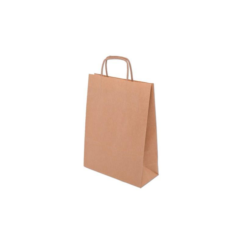 Papiertasche mit gedrehten papiergriffen