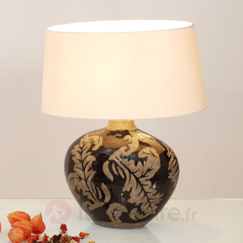 Elégante lampe à poser Toulouse Oval - Lampes à poser en tissu