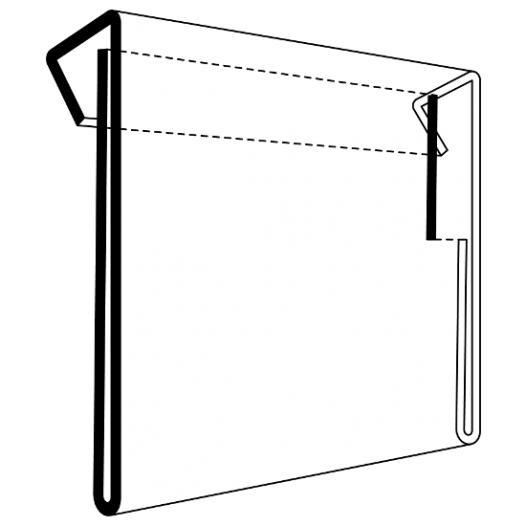 Card holder for pallet collars, transparent -