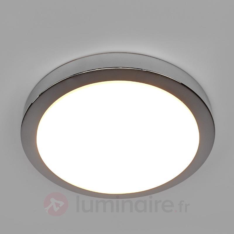 Plafonnier LED Aras chromé brillant, IP44 - Salle de bains