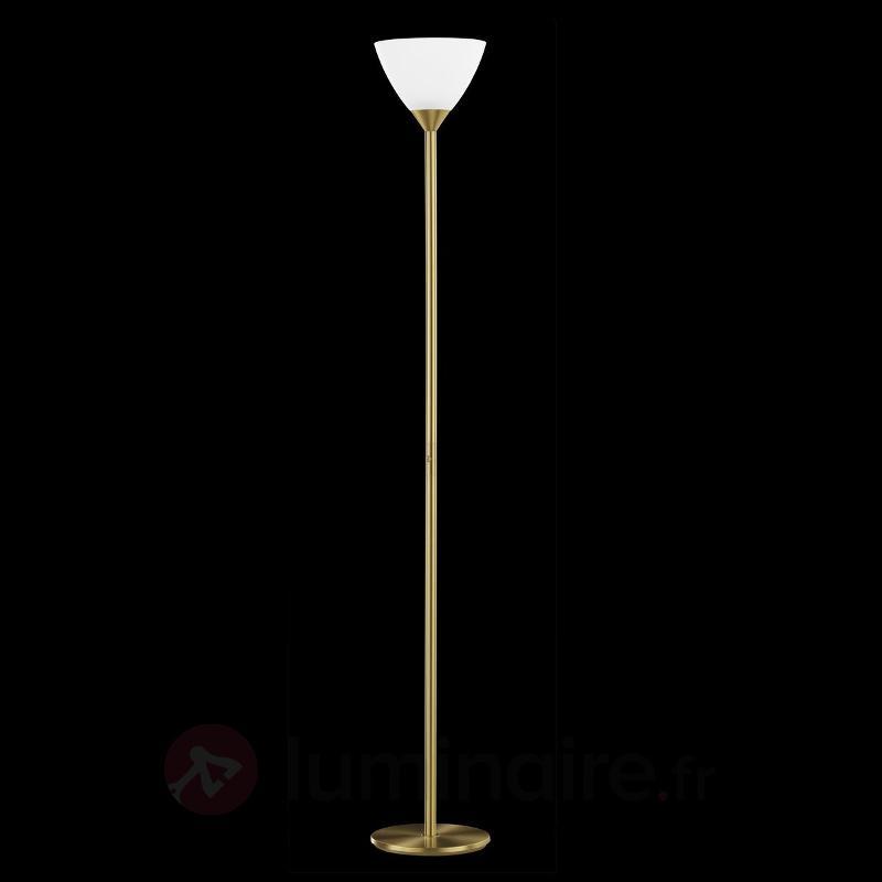 Lampadaire charmant SATINA laiton mat - Lampadaires à éclairage indirect