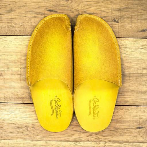 Yellow CP Slippers - Yellow leather slippers