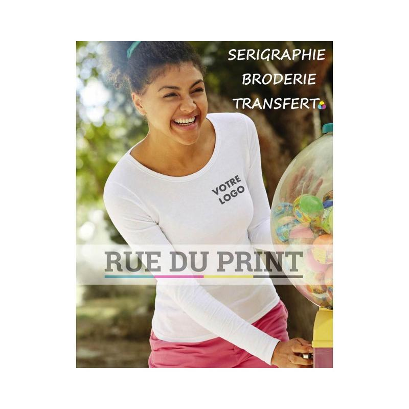 Tee-shirt Fit S-L femme - Manches longues
