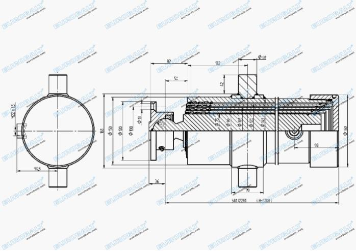 Telescopic four-stage cylinder (piston stroke: 1700mm) - Telescopic five-stage cylinder HC000914