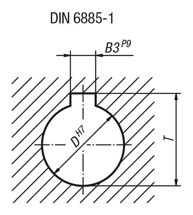 Manivelle avec poignée cylindrique tournante - Volants, manivelles et poignées