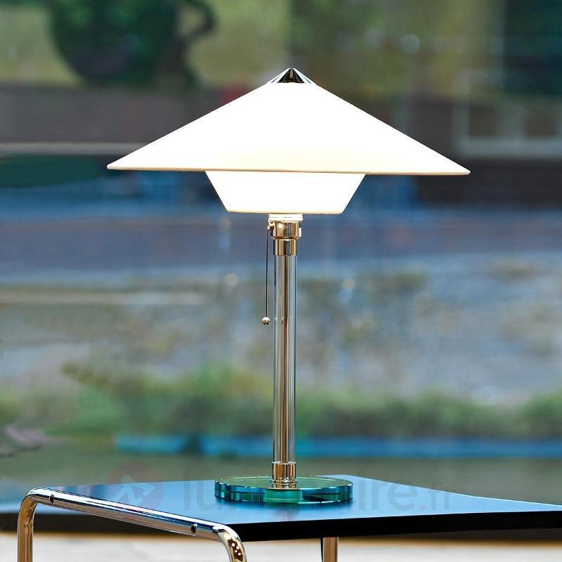 Réédition unique lampe à poser Wagenfeld - Lampes à poser designs