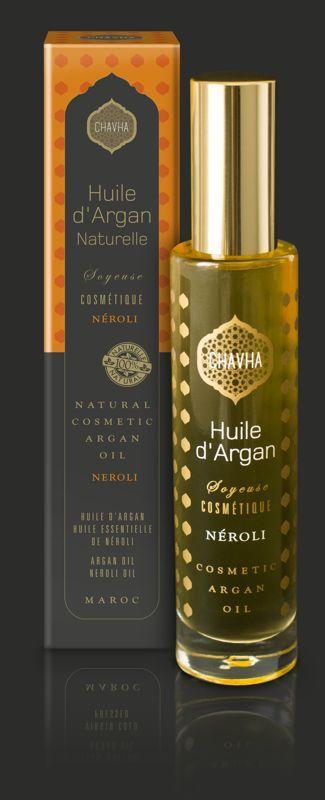 Huile d'Argan Naturelle - Flacon SOYEUSE NÉROLI 50 ml - Soins du Corps et Bronzage