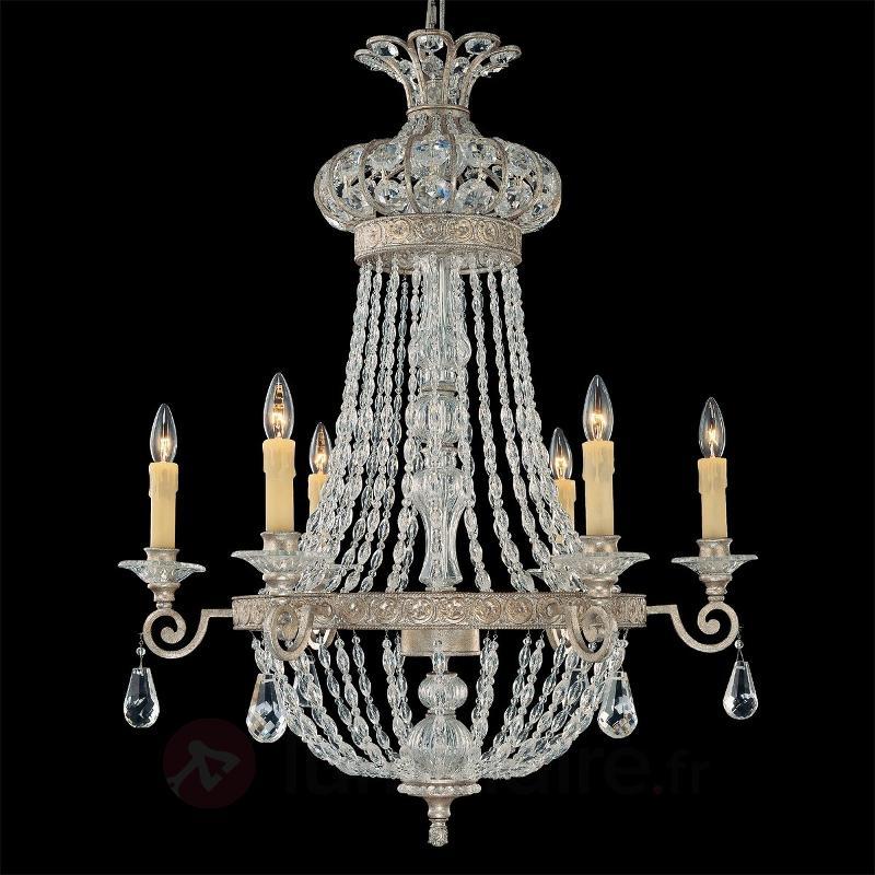 Lustre SHEREZADE de forme parfaite à 6 lampes - Lustres en cristal