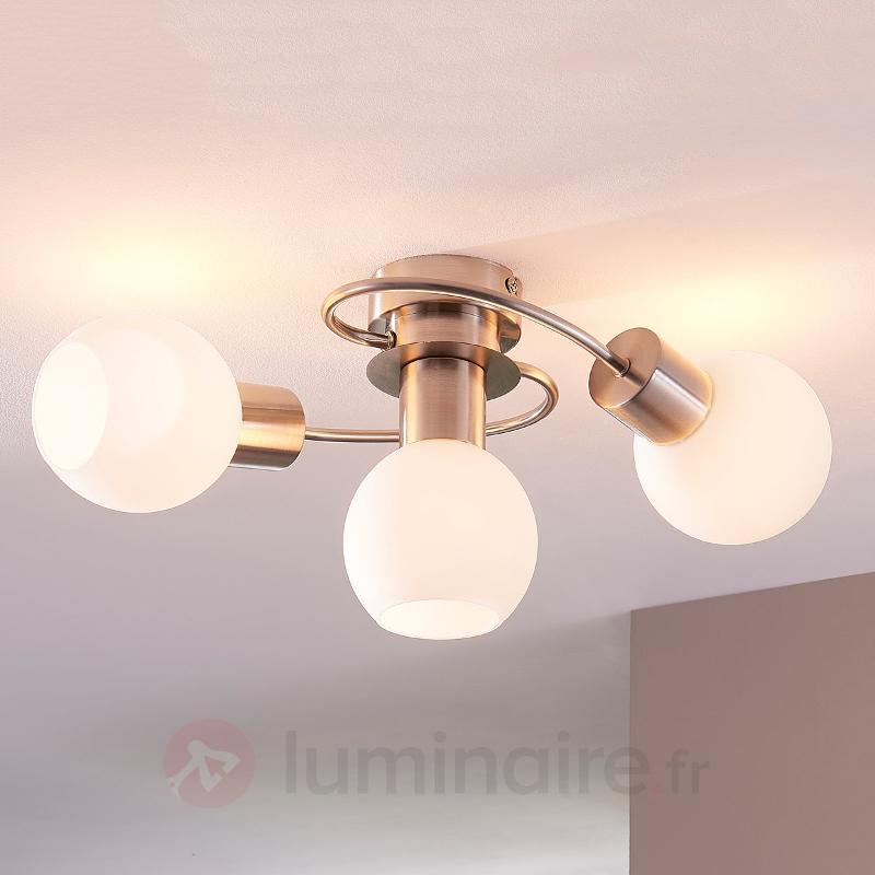 Plafonnier LED Ciala à 3 lampes - Plafonniers LED