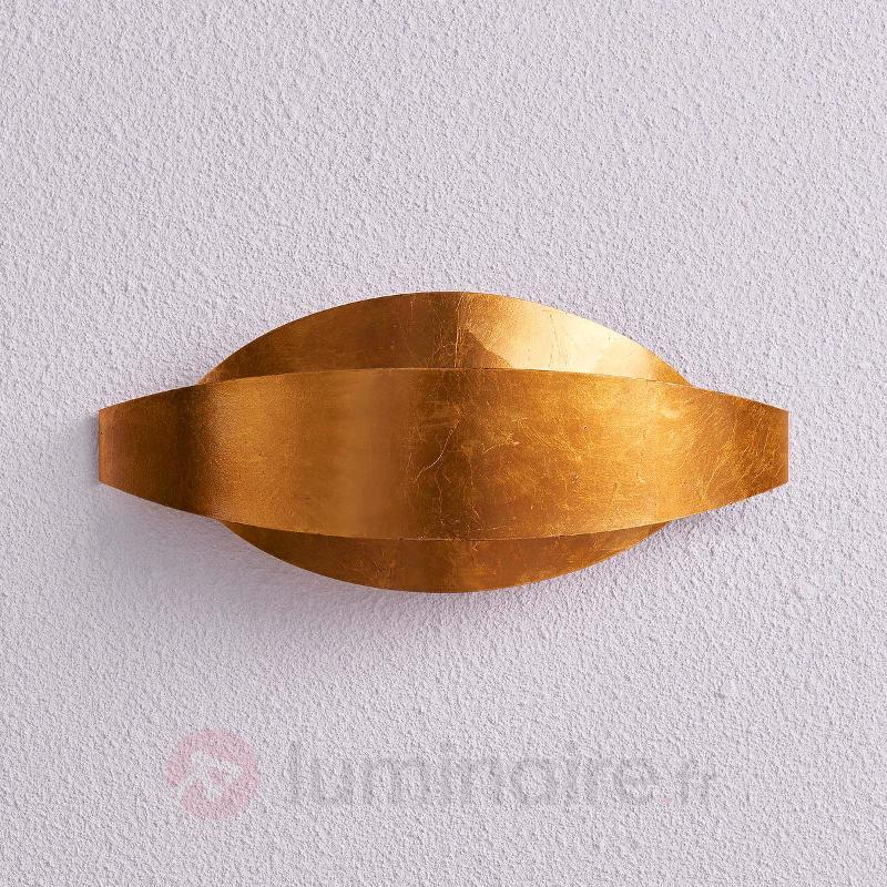 Magnifique applique LED Jamil doré - Appliques en laiton/dorées