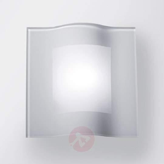 Square LED wall light Tee in curved shape - Wall Lights