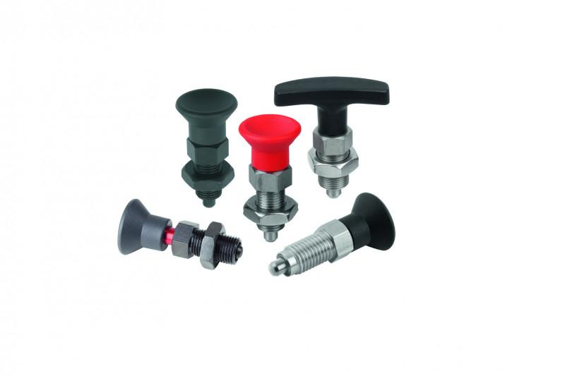 Indexing plungers - Cam action indexing plungers allow machine components to be adjusted quickly.