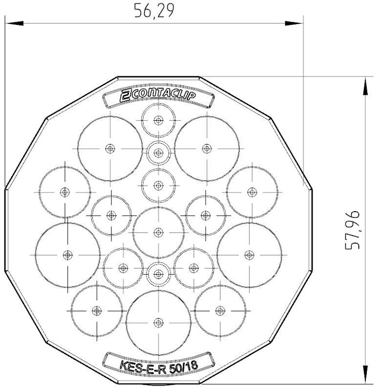 KES-E-R 50/18 A GR | Kabeleinführung - null