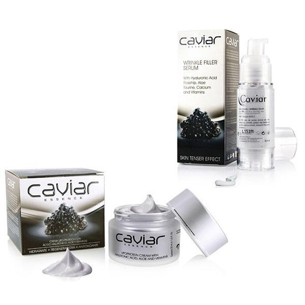 Gamme régénérante à l'extrait de Caviar - Crème visage régénérante 50ml / Sérum visage anti-rides 30ml