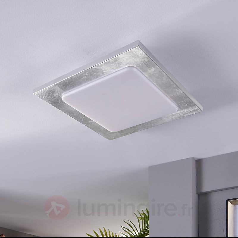 Martina - plafonnier LED avec feuille argentée - Plafonniers LED