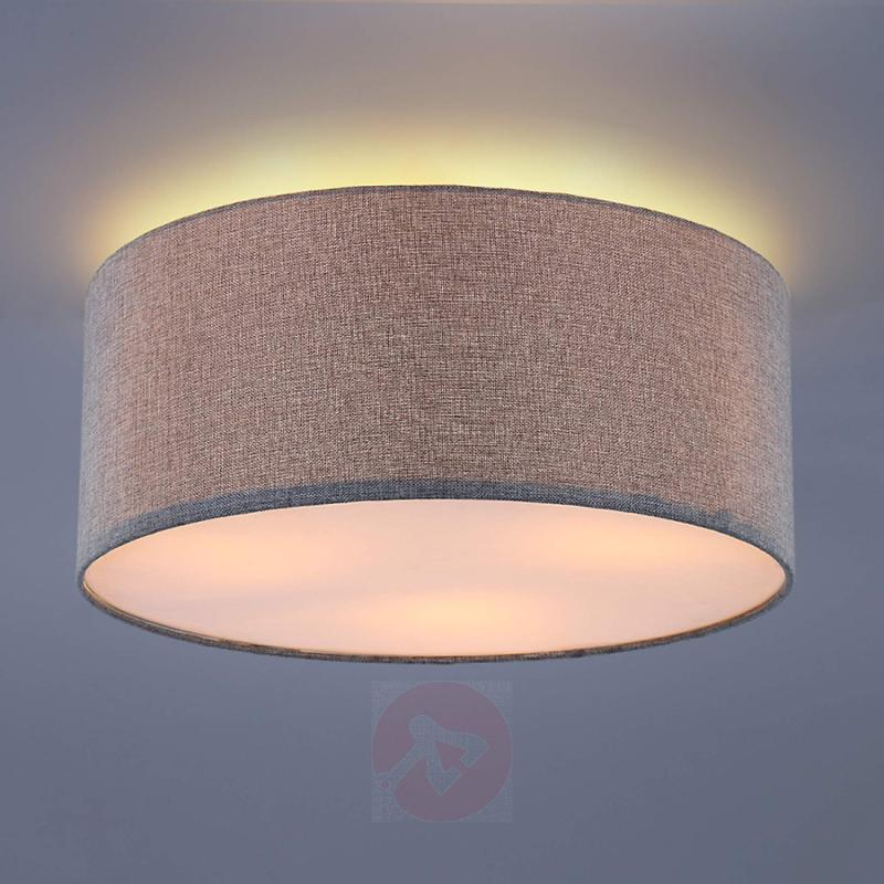 Silver grey fabric ceiling lamp Pitta - indoor-lighting