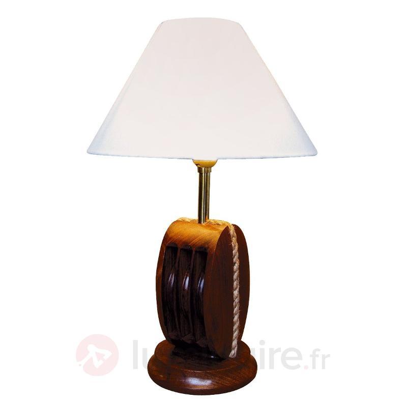Lampe à poser AHOI originale bois 25 cm de haut - Lampes à poser en bois