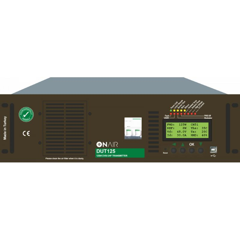 125 W DVB-T/T2 UHF TRANSMITTER -  DVB-T/T2 Power: 125 Wrms, Analog Power: 220W p.s. MER: 40 dB