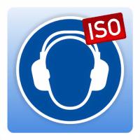Gebotsschild Gehörschutz benutzen - Größe: 50 mm Durchmesser 100 mm Durchmesser 200 mm Durchmess