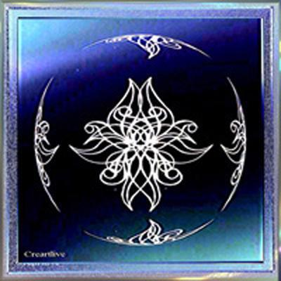 Miroir Bleu en arabesques