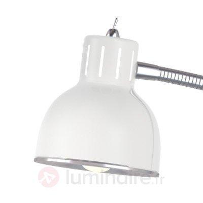 Lampadaire LED minimaliste Duett, blanc - Lampadaires LED