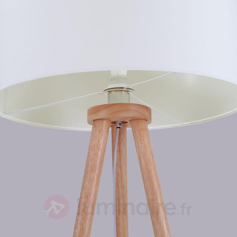 Lampadaire trépied en bois Charlia - Lampadaires en tissu