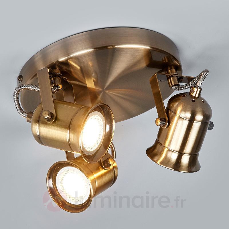 Plafonnier circulaire GU10 à trois lampes Marlis - Tous les spots et projecteurs