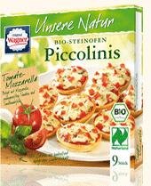 Piccolinis tomate-mozzarella - Biologiques et surgelés
