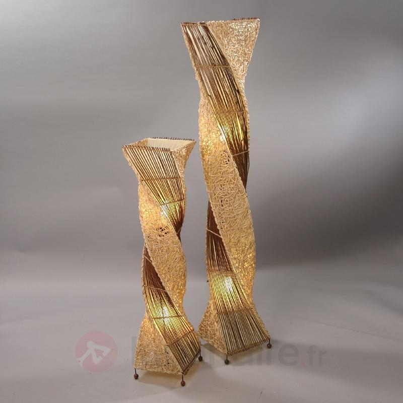Lampadaire tressé Marco 100 cm - Lampadaires en bois