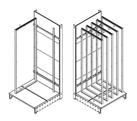 Modular shop rack systems & instore interior shelving design - Shower door presentation