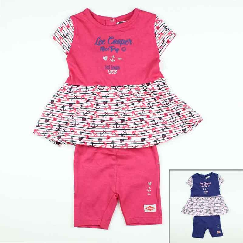 Wholesaler set of clothes baby licenced Lee Cooper - Summer Set