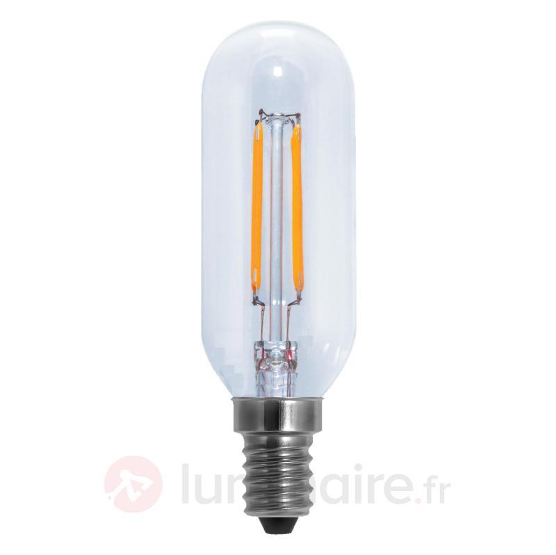 Ampoule LED tube à filament E14 4,1W transparente - Ampoules LED E14